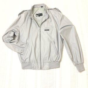 Members only jacket size 38 gray zipper